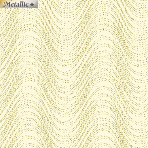 Metallic Wave Cream/Gold