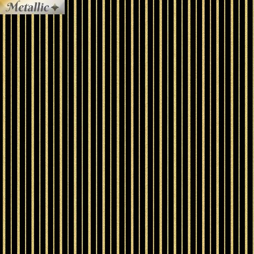 Metallic Stripes Black/Gold
