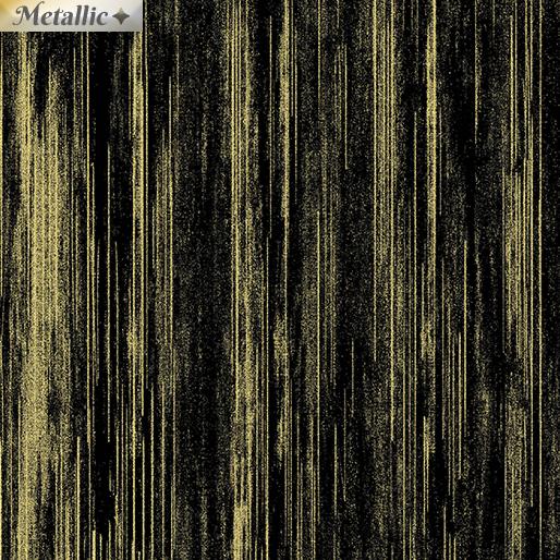 Metallic Text Stripe BlackGold