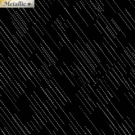 Metallic Dash - Black/silver