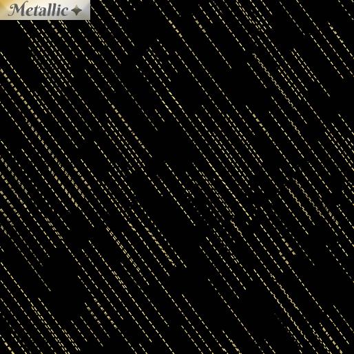 Metallic Dash Black/Gold