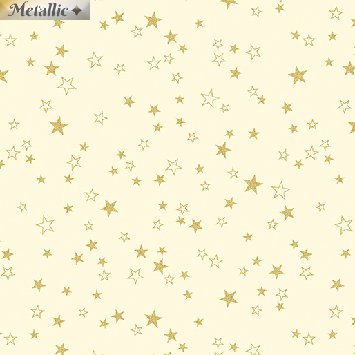 Metallic Stars Cream/Gold 4846