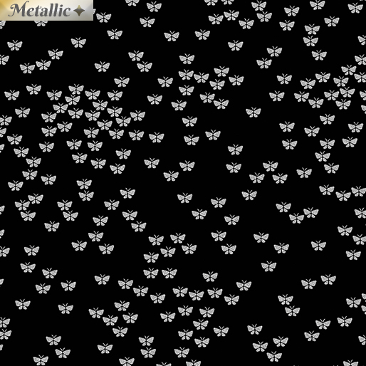 Metallic Butterflies - Black/silver