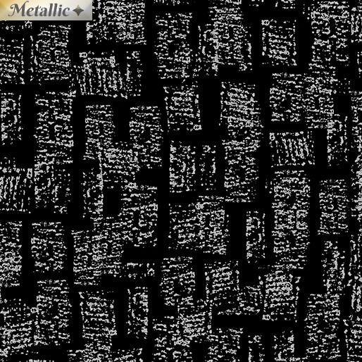Metallic Bricks - Black/silver