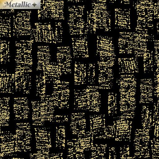 Metallic Bricks Black/Gold