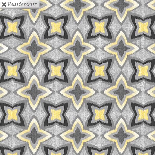 7743P-11 Pearl Flower Ikat Gray