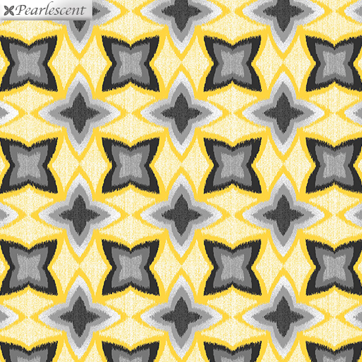 Limoncello Pearl Flower Ikat Yellow