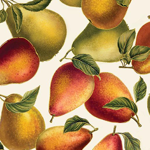 Benartex/Kanvas Harvest Gold Elegant Pears Cream