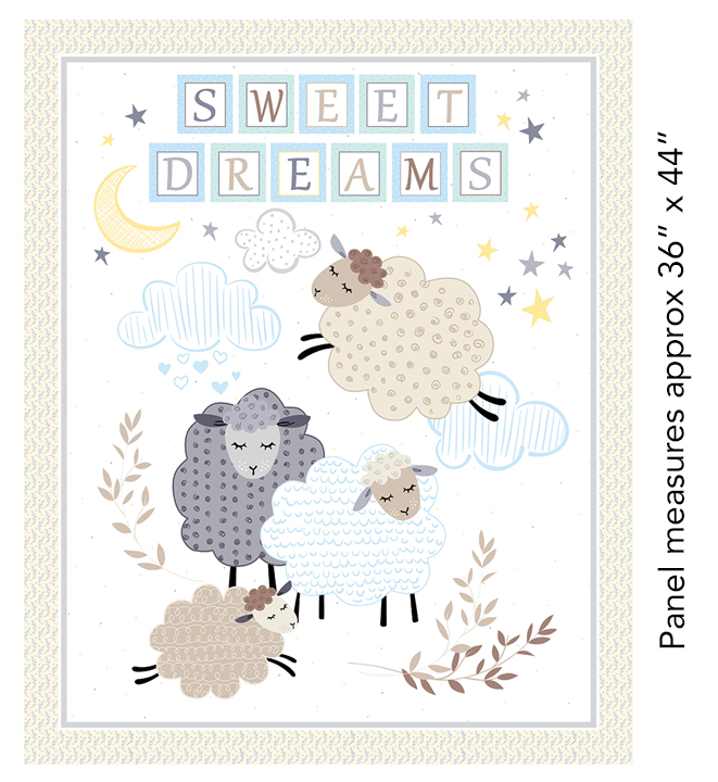Sweet Dreams 36 Panel Pastel 7780-01