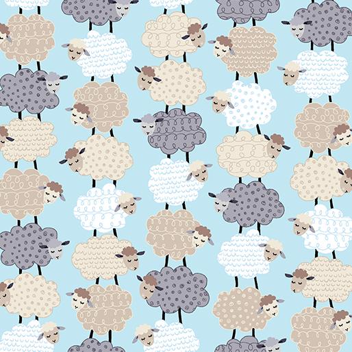 Sweet Stacked Sheep Aqua