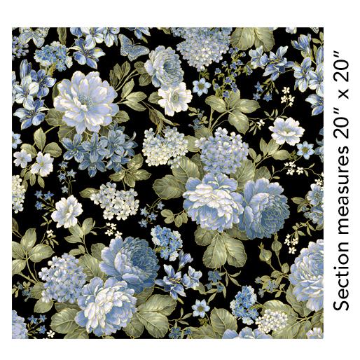 Kanvas Studio - Blue Symphony Garden Black - 7788M - 12
