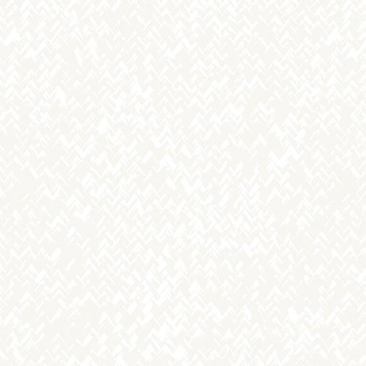Benartex Better Basics 7795-09Zig Zag Texture White/White
