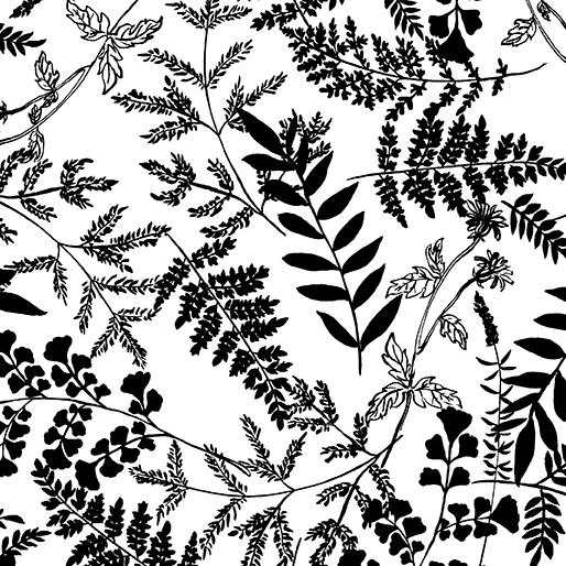 Leafy Garden White/Black