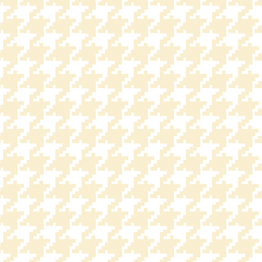 Large Houndstooth White/Ecru