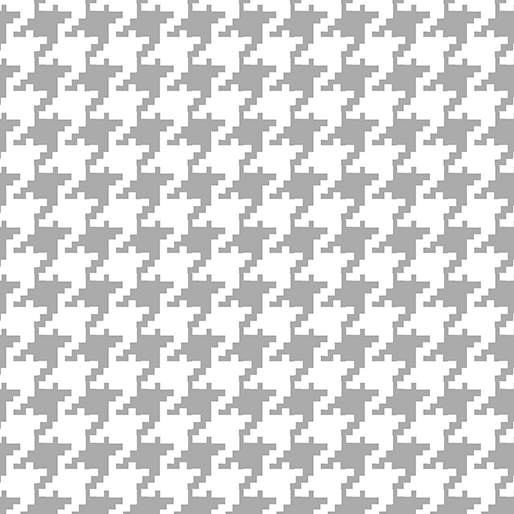 Large Houndstooth White/Gray