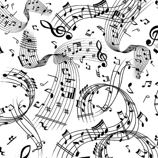 CONTEMPO Swirling Music 7804-99 White/Black