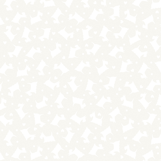 Tonal Scottie Dogs White/White 06-09