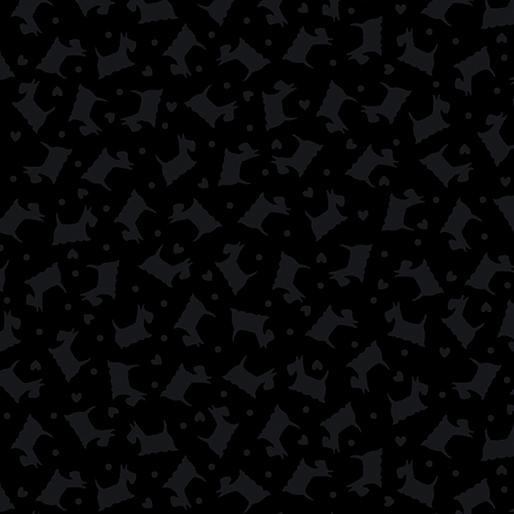 Tonal Scottie Dogs Black/Black