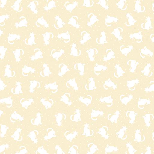 Tonal Cats White/Ecru