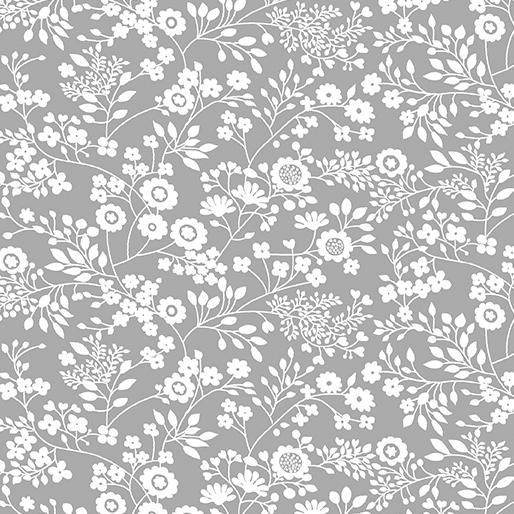 Floral Garden Dove Gray