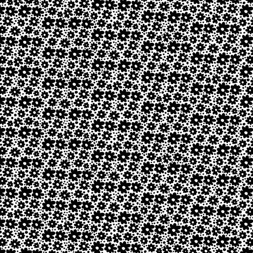 Daisy Dots White/Black