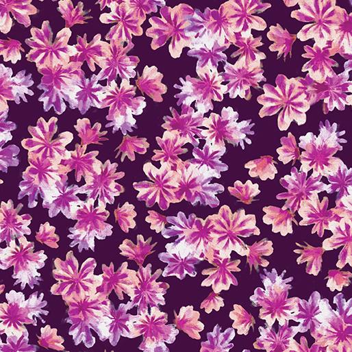 Blooming Beauty - Purple Breezy Blooms - By Kanvas Studios