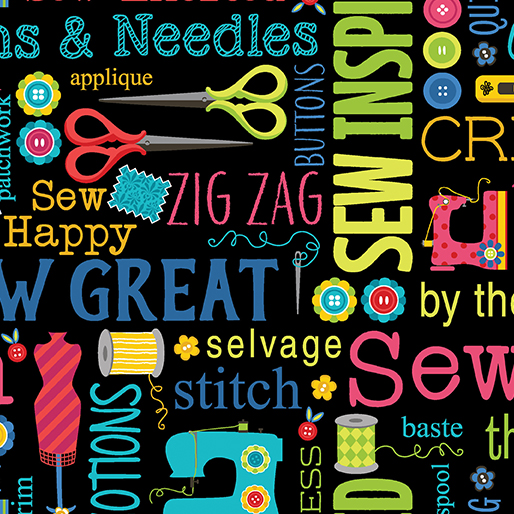 Sew Excited -- Sew Wordy Black
