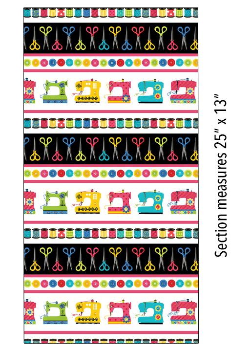 Sew Excited Stripe - Multi