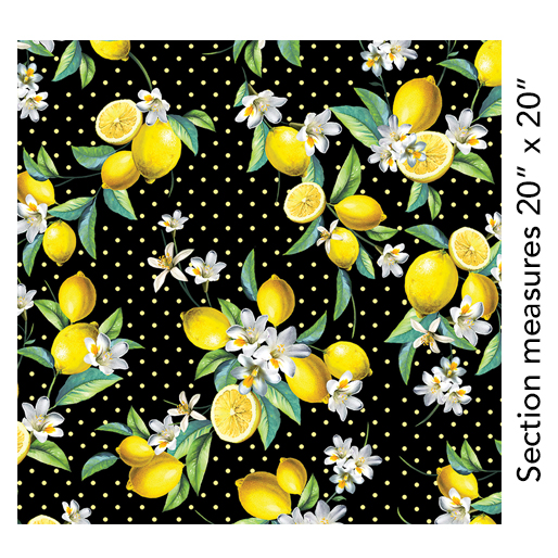 Lemon Fresh Bouquet Black 7833-12