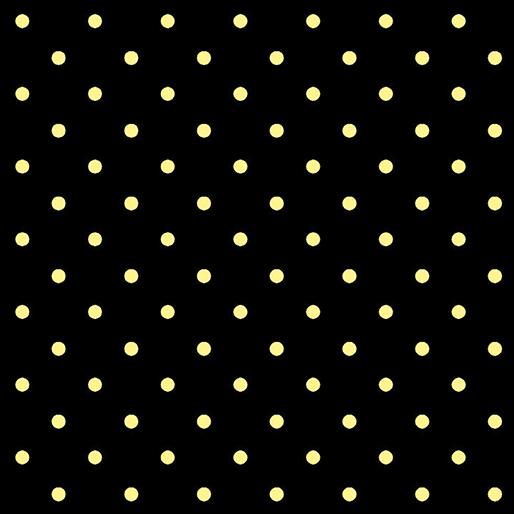 Lemon Drop Dots Black 7840-12