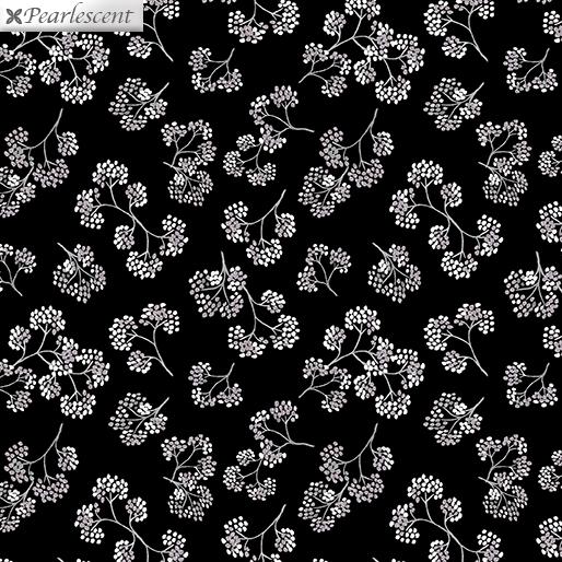 Midnight Flower Sprigs Black