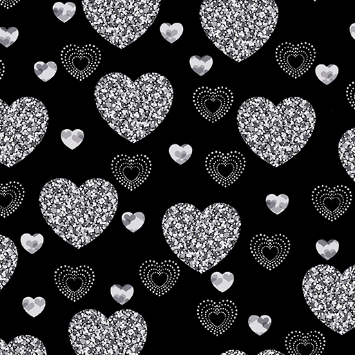 Dotty Heart Black 7889 12