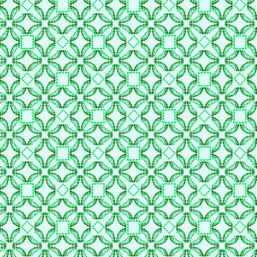 Embroidered Elegance -  Geo - Mint - 7914-04