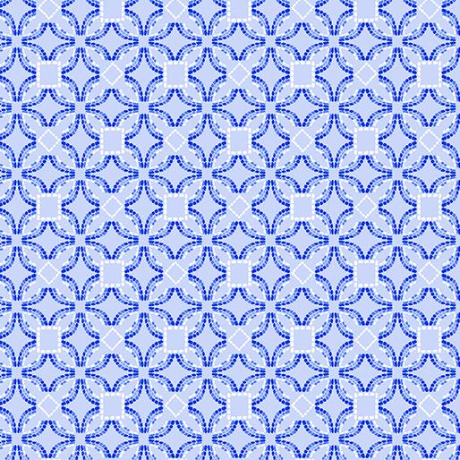 Embroidered Elegance -  Geo - Light Blue - 7914-05