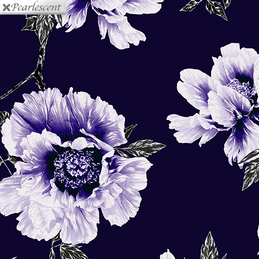 Violet Twilight - Floral - Navy/Purple - 7918P-66