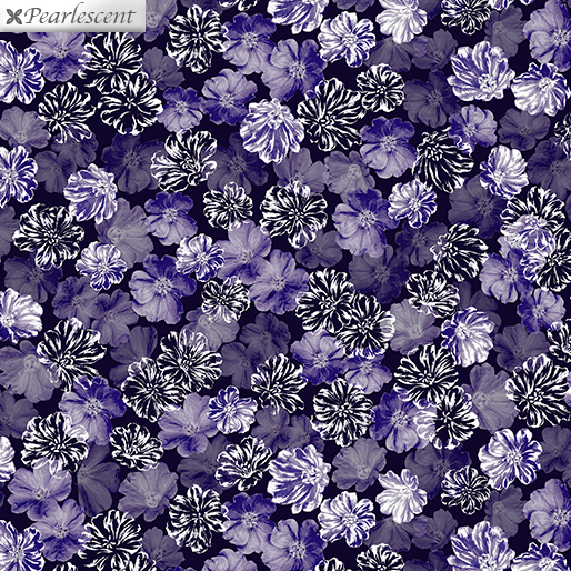 Pearly Blooms Navy/Purple 7920P-66