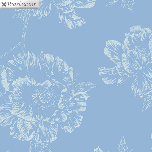 Violet Twilight - Pearl Shadow Flowers -  Aqua - 7922P-05
