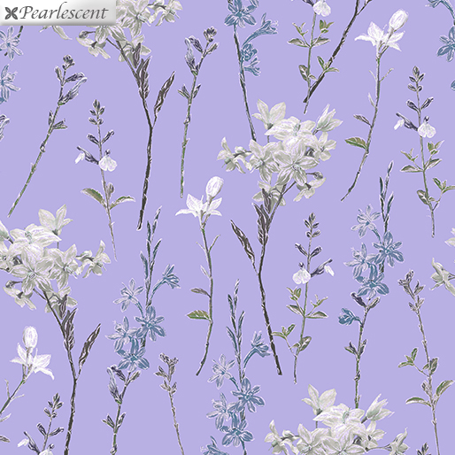 Violet Twilight - Shimmery Wild Flowers - Lilac - 7924P-60
