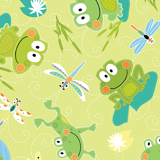 Hop Along Frogs Lime - Toadily Cute