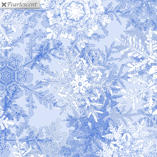 Snowflake Frost Ice Blue