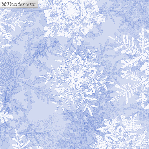 Snowflake Frost Powder Blue