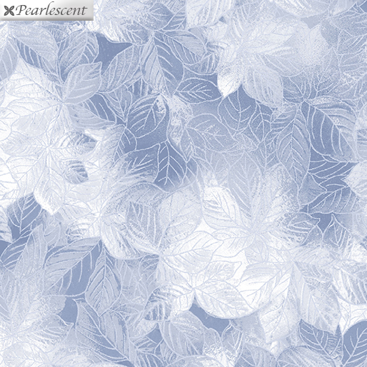 Pearl Frost Leaves Silver Gray