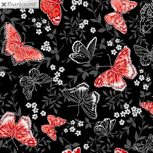 Poppy Promenade - Poppy Promenade Butterfly - Blk - 7981P-12