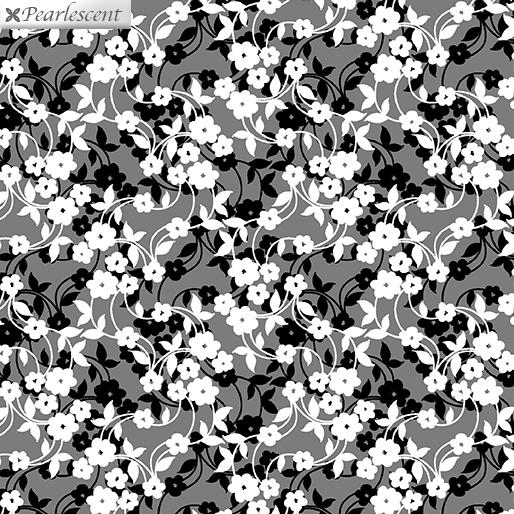 Poppy Promenade - Mini Flower Dance - Gray - 7984P-11