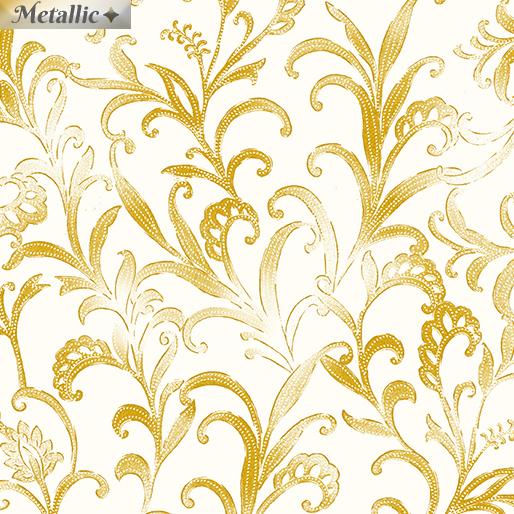 Opulent Scrolls Cream/Gold