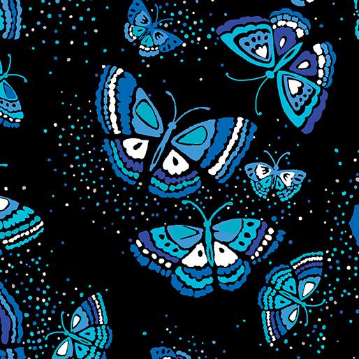 Island Butterfly Black/Blue
