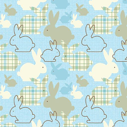 Bunch of Bunnies Blue