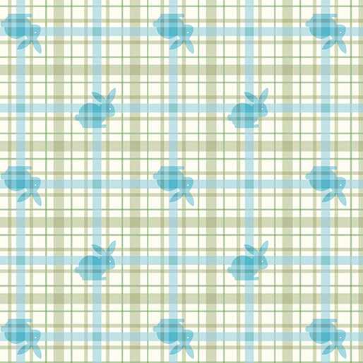 Flannel Bunny Plaid Blue