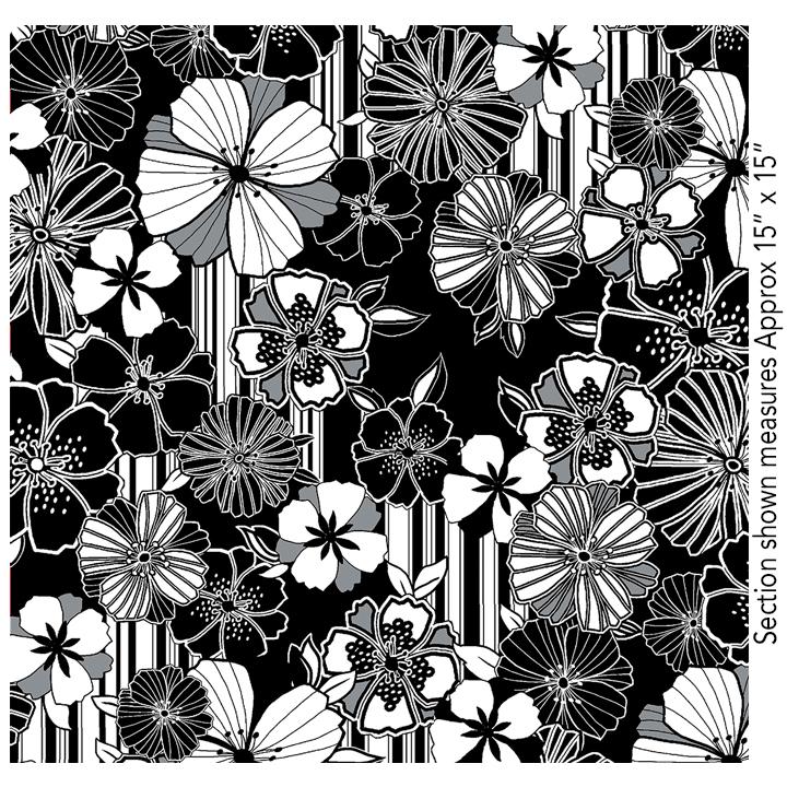 Graphic Poppy 8405-12 Black/White Benartex