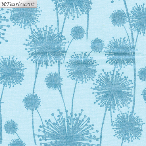 Dandelion Shadow Aqua/Teal (Pearl Reflections)